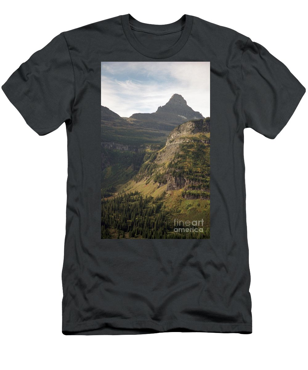 Glacier Men's T-Shirt (Athletic Fit) featuring the photograph Mountain Glacier by Richard Rizzo