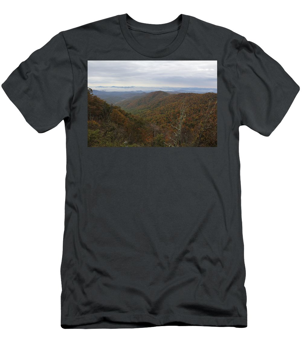 Mountains Men's T-Shirt (Athletic Fit) featuring the photograph Mountain Landscape 10 by Allen Nice-Webb