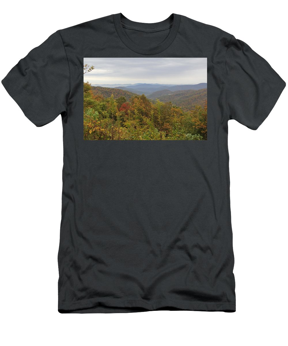 Mountain Men's T-Shirt (Athletic Fit) featuring the photograph Mountain Landscape 6 by Allen Nice-Webb