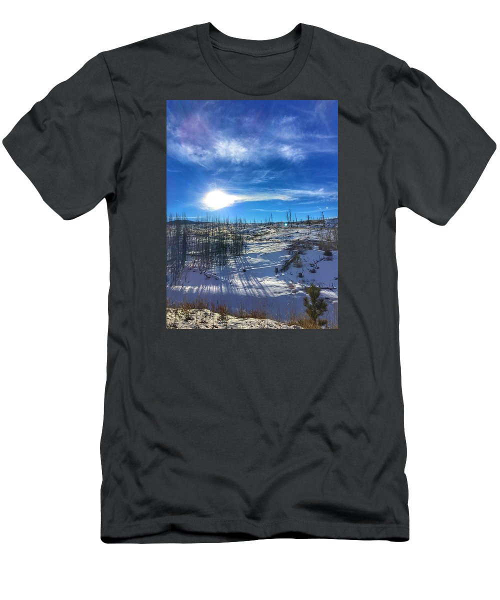 Mountains Men's T-Shirt (Athletic Fit) featuring the photograph Mountain Shadows by Kelly Clemente