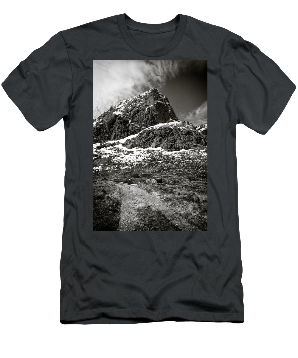Mountains Men's T-Shirt (Athletic Fit) featuring the photograph Mountain Track by Dave Bowman