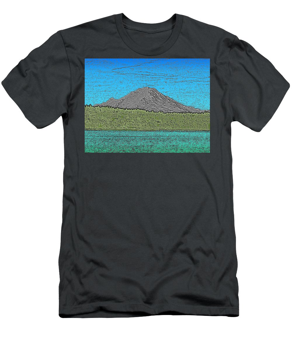 Mountain T-Shirt featuring the digital art Mountains Majesty by Tim Allen