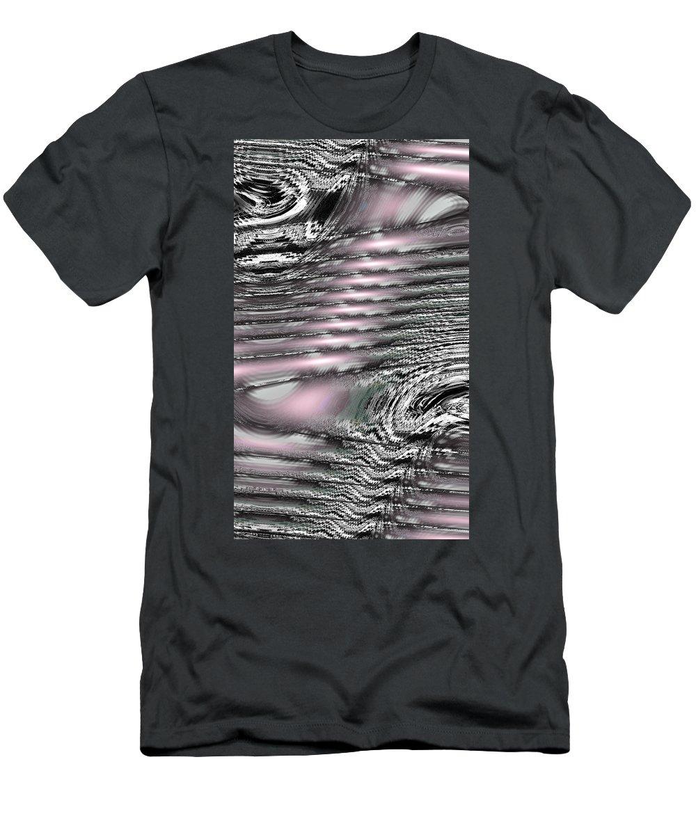Moveonart! New York / San Francisco / Oklahoma City / Portland / Missoula Jacob Kanduch Men's T-Shirt (Athletic Fit) featuring the digital art Moveonart Daily Planet Wave 2 by Jacob Kanduch