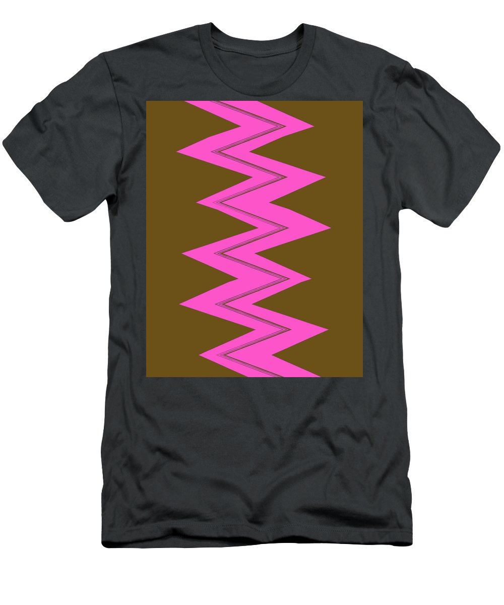 Moveonart! Global Gathering. -- Jacob Kane -- Omnetra Men's T-Shirt (Athletic Fit) featuring the digital art Moveonart Electricpink by Jacob Kanduch