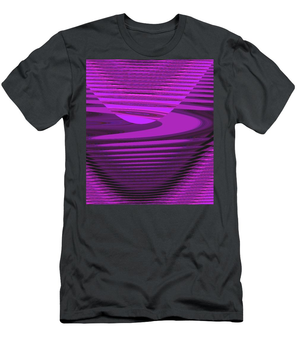 Moveonart! Digital Gallery Lower Nob Hill San Francisco California Jacob Kanduch Men's T-Shirt (Athletic Fit) featuring the digital art Moveonart Jacobs Mood 3 by Jacob Kanduch