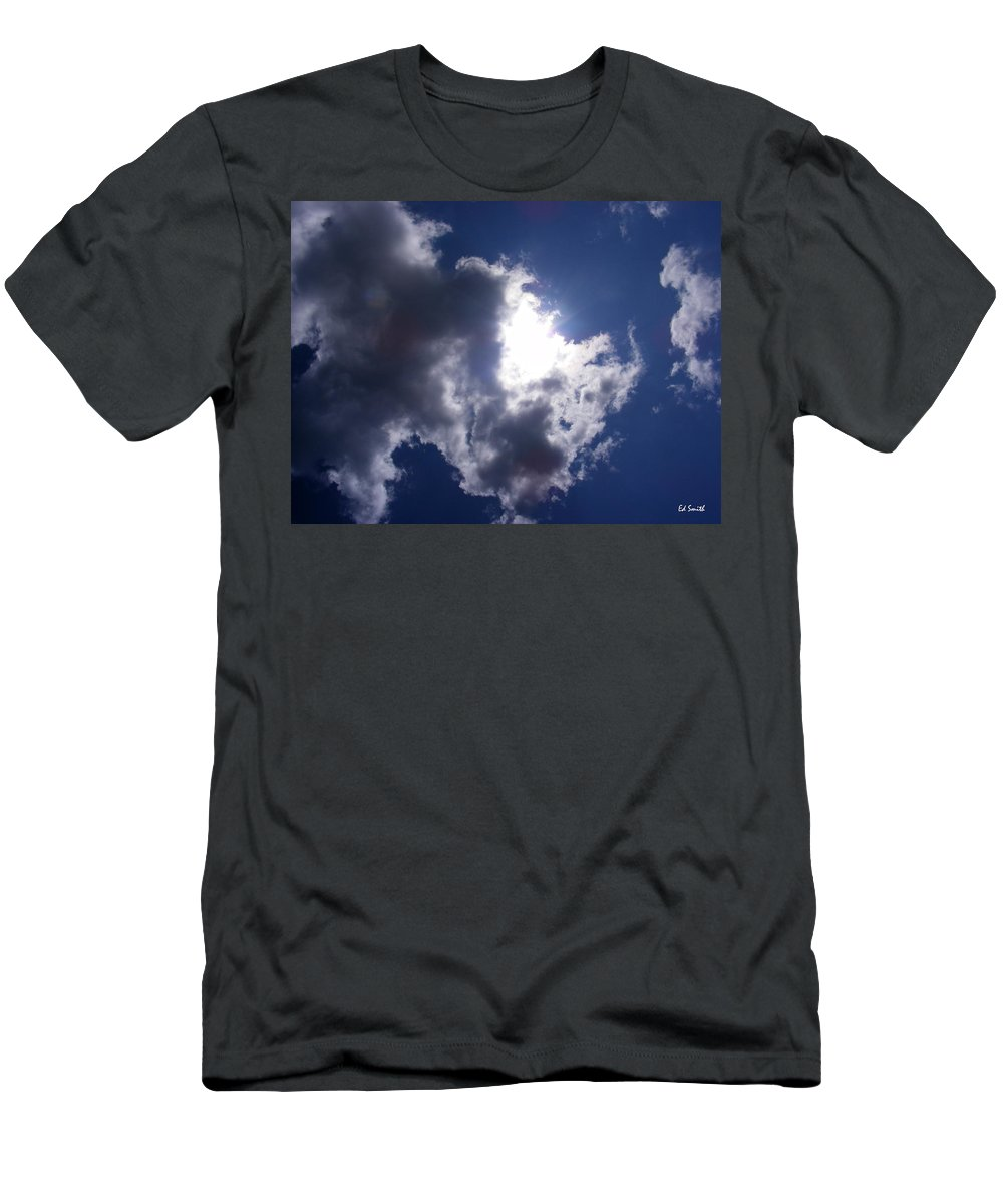 Mr Blue Sky Men's T-Shirt (Athletic Fit) featuring the photograph Mr Blue Sky by Ed Smith