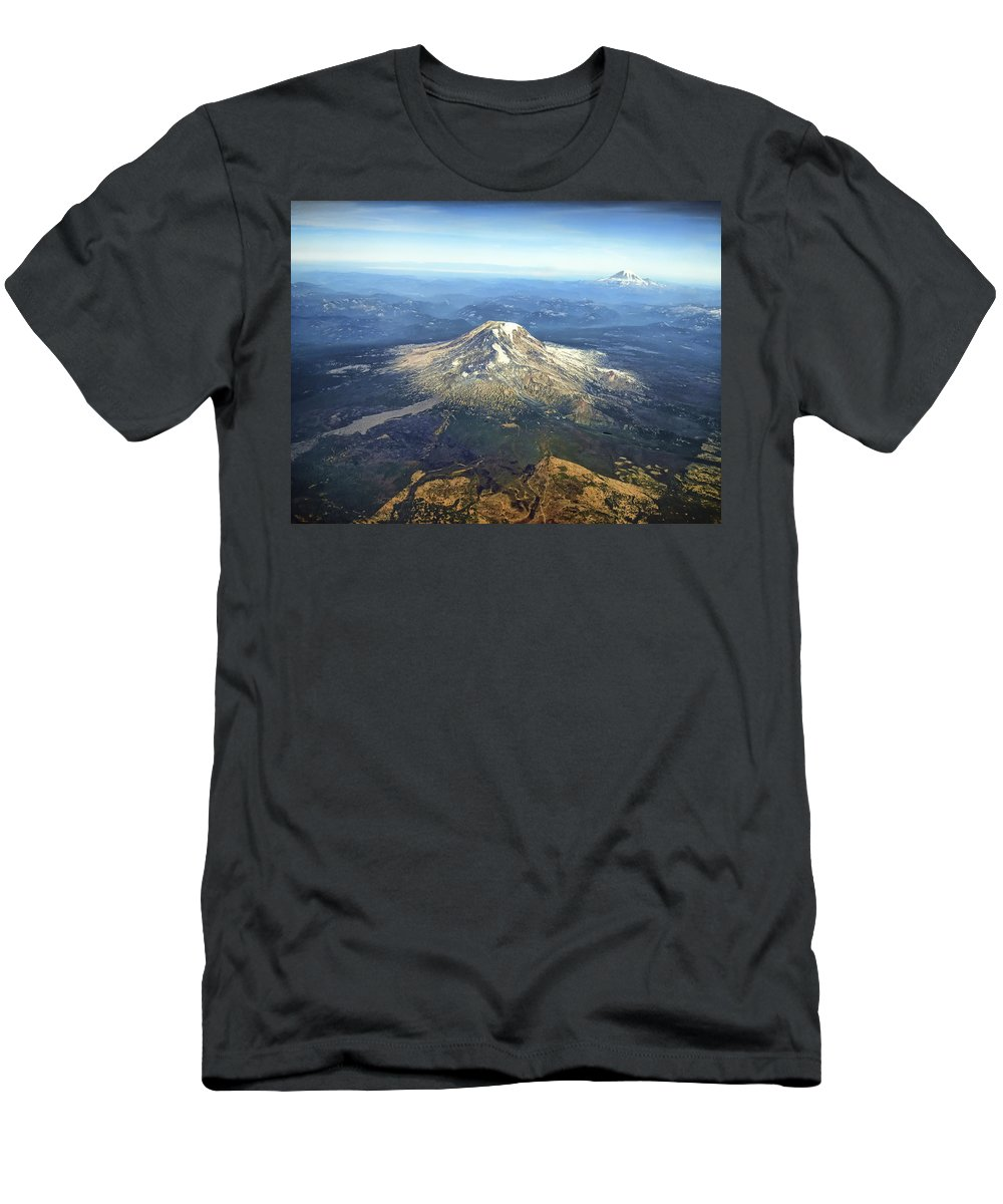 mt. Adams Men's T-Shirt (Athletic Fit) featuring the photograph Mt. Adams In Washington State by Daniel Hagerman
