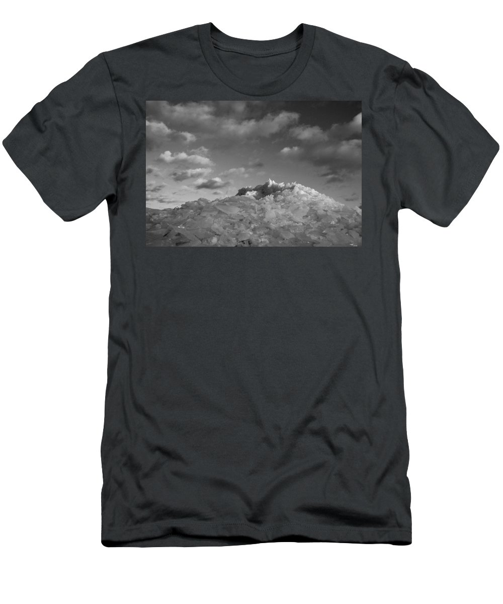 Ice Men's T-Shirt (Athletic Fit) featuring the photograph Mt. Chilly by Jeff Galbraith