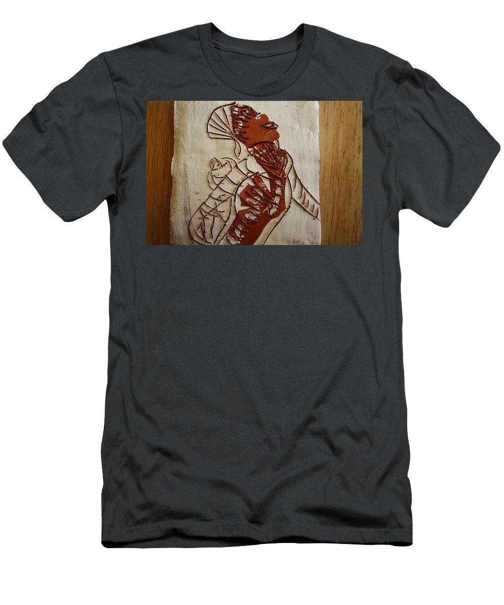 Jesus Men's T-Shirt (Athletic Fit) featuring the ceramic art Mums Adrift - Tile by Gloria Ssali