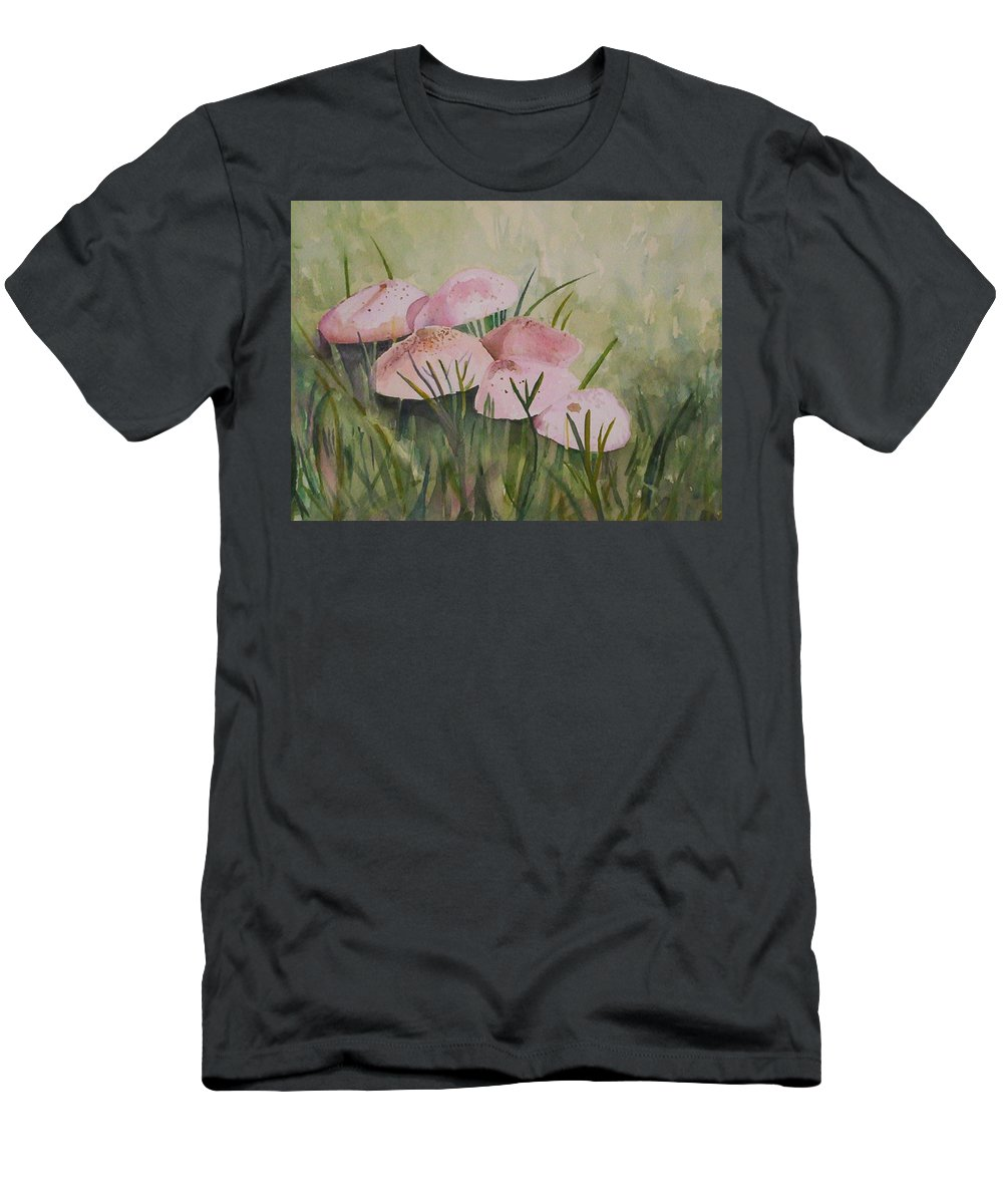 Landscape T-Shirt featuring the painting Mushrooms by Suzanne Udell Levinger