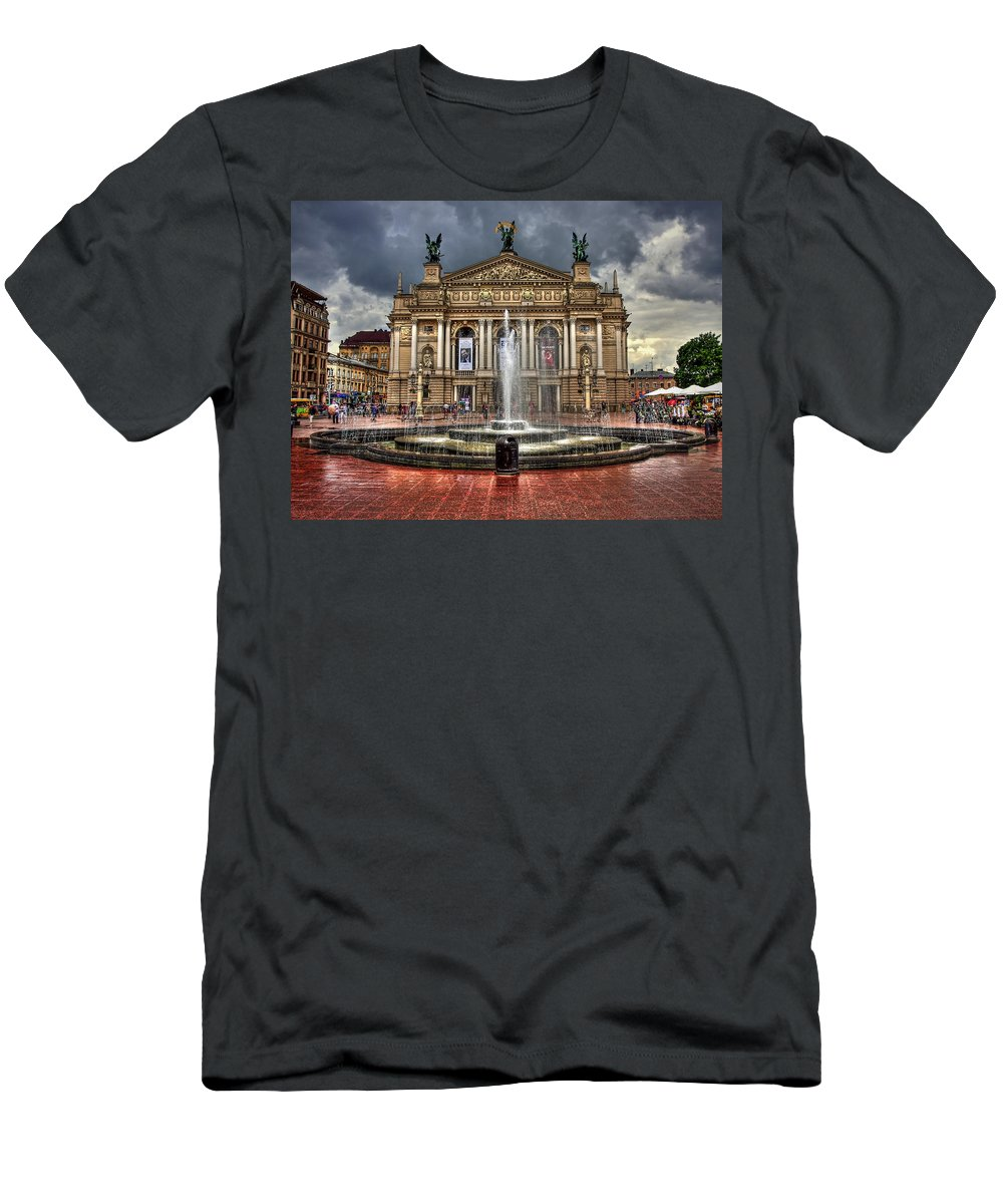 Architecture Men's T-Shirt (Athletic Fit) featuring the photograph Music Of My Heart by Evelina Kremsdorf