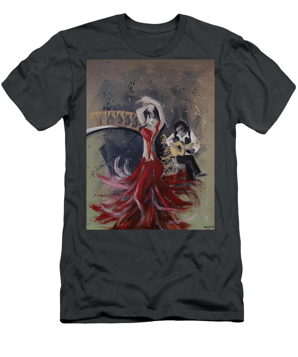 Dance Men's T-Shirt (Athletic Fit) featuring the painting Musica Espaniol by Kelly Jade King