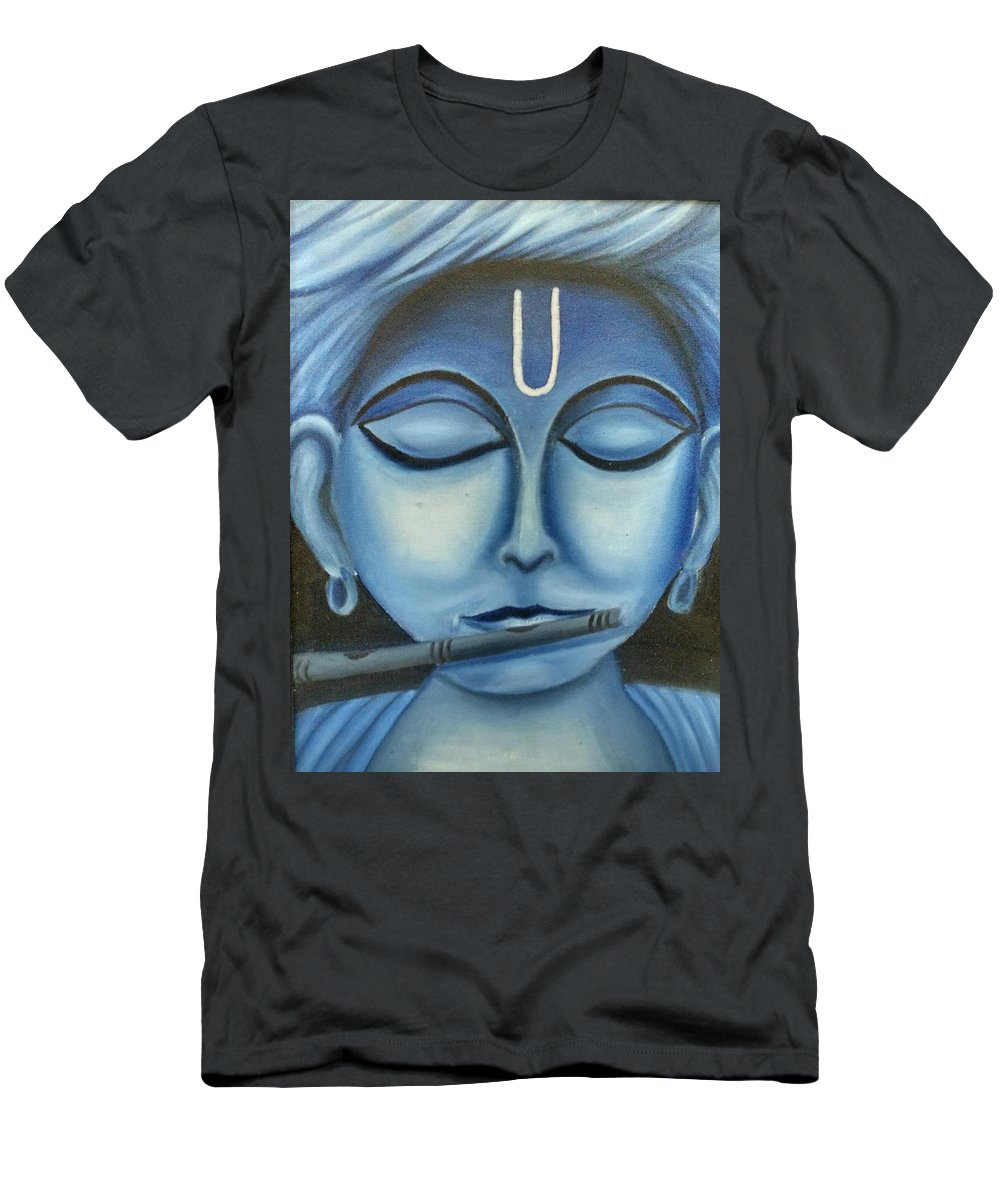 Oil Men's T-Shirt (Athletic Fit) featuring the painting Musician Man by Sweety Lohani