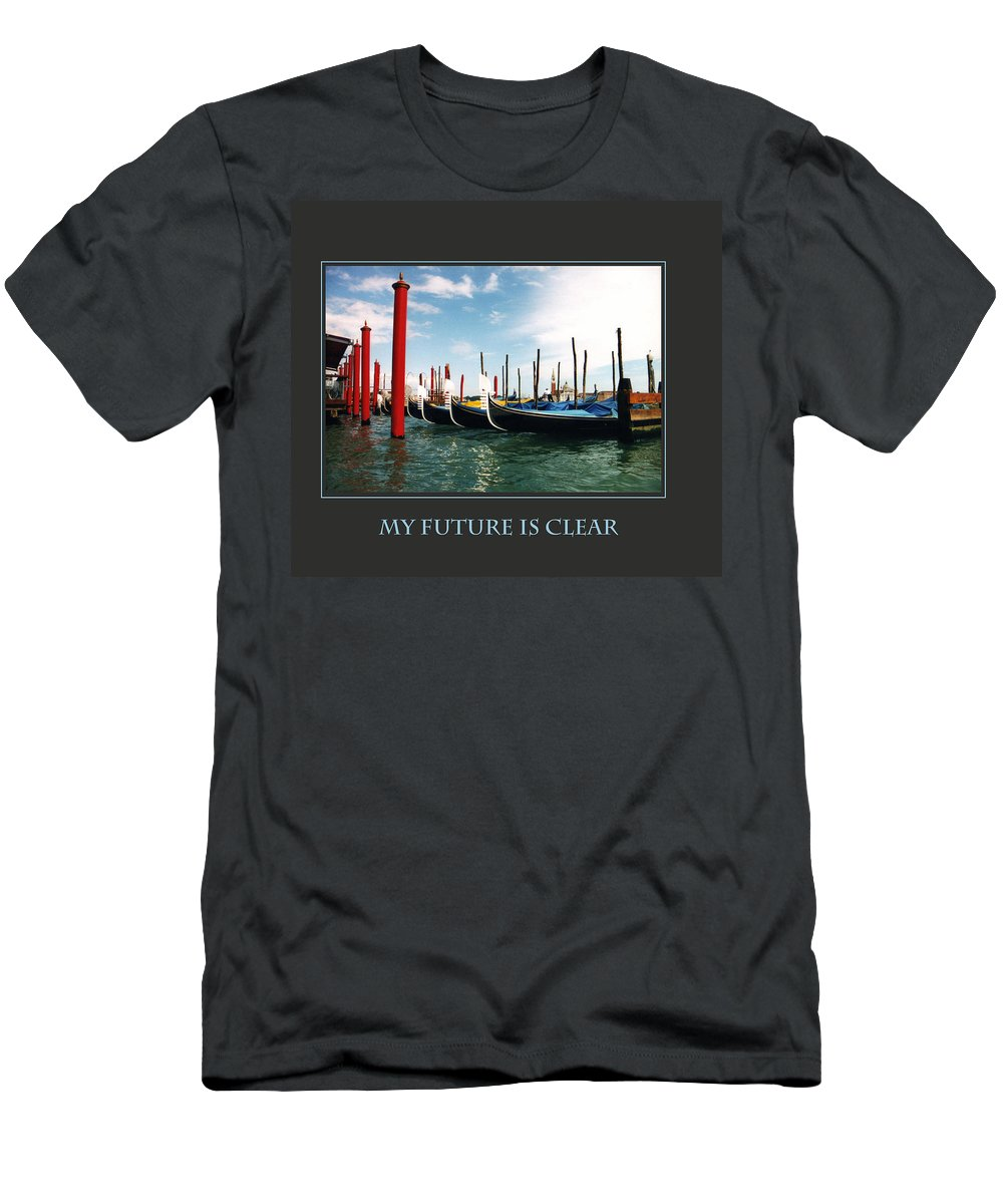 Motivational Men's T-Shirt (Athletic Fit) featuring the photograph My Future Is Clear by Donna Corless