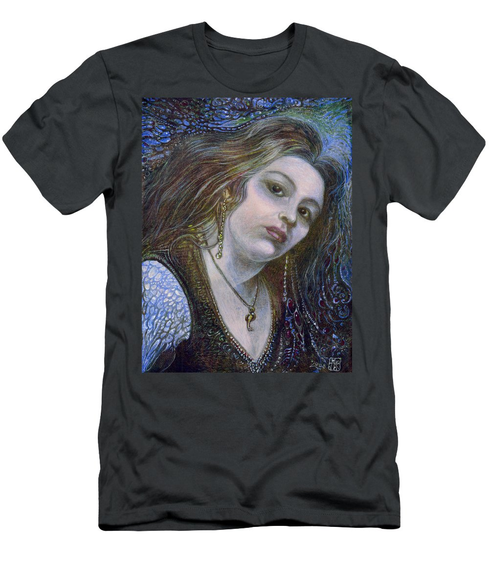 Fantasy Men's T-Shirt (Athletic Fit) featuring the painting My Mermaid Christan by Otto Rapp