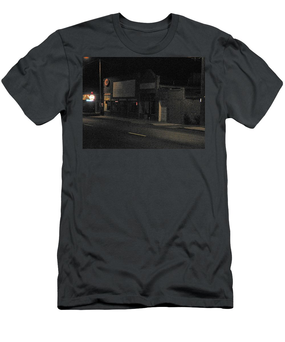 Abstract Men's T-Shirt (Athletic Fit) featuring the photograph My Neighborhood At Night by Lenore Senior