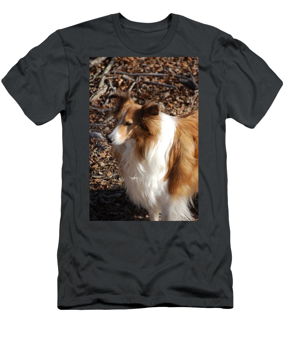 Dog Men's T-Shirt (Athletic Fit) featuring the digital art My New Best Friend by David Lane