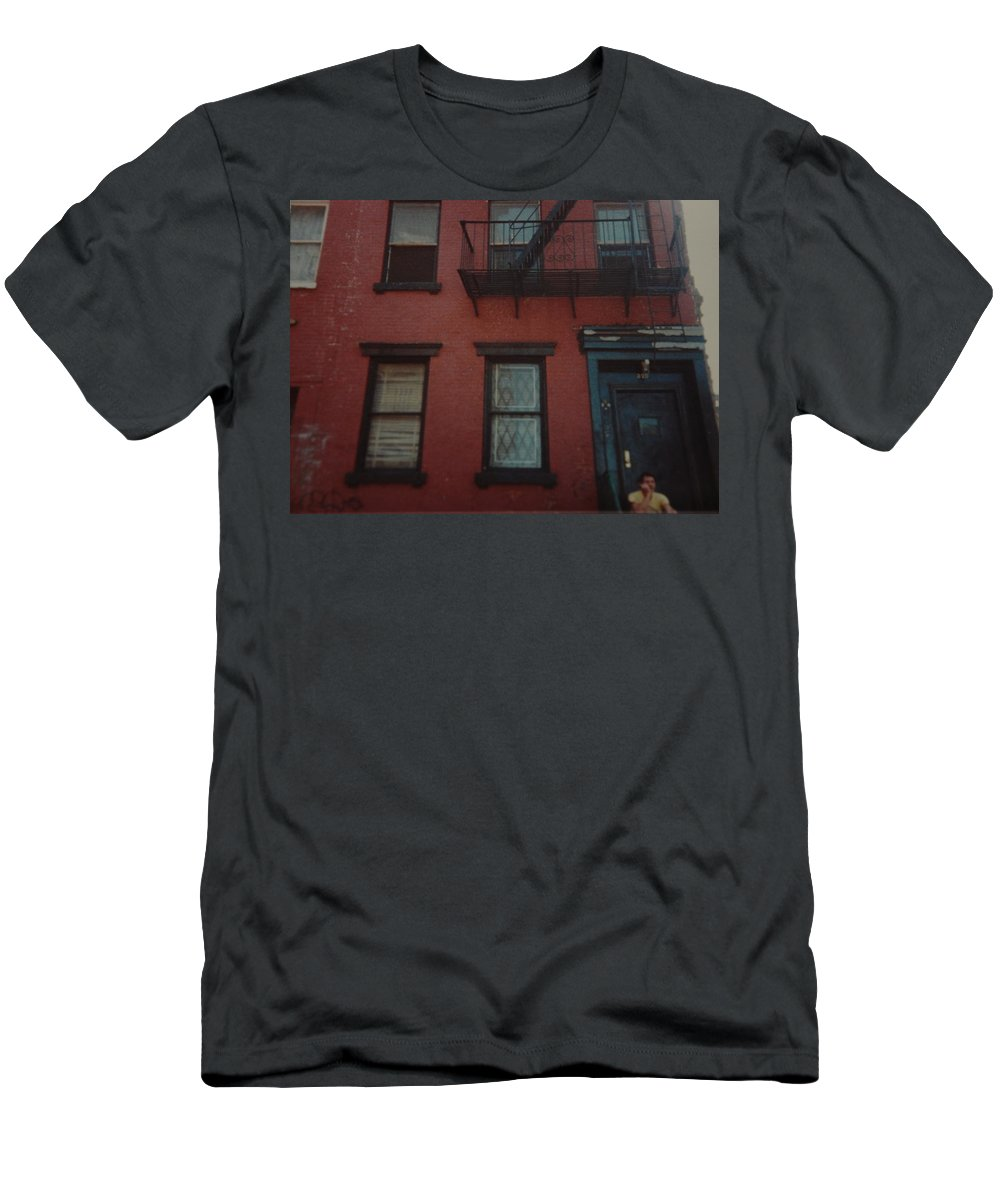 Lower East Side Men's T-Shirt (Athletic Fit) featuring the photograph My Pops First Home In The United States by Rob Hans