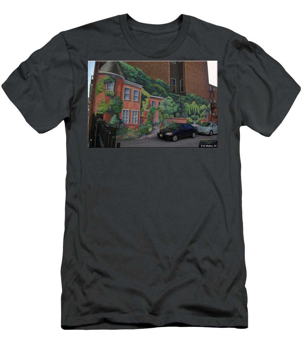 2d Men's T-Shirt (Athletic Fit) featuring the photograph My Sisters Garden by Brian Wallace