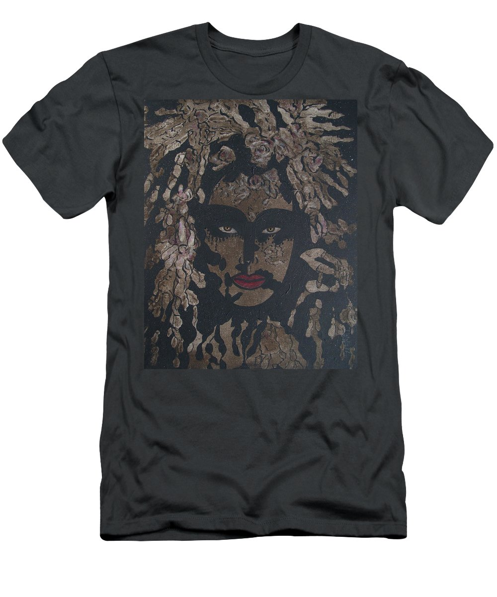 Figurative Men's T-Shirt (Athletic Fit) featuring the painting Mysterious Desire by Natalie Holland