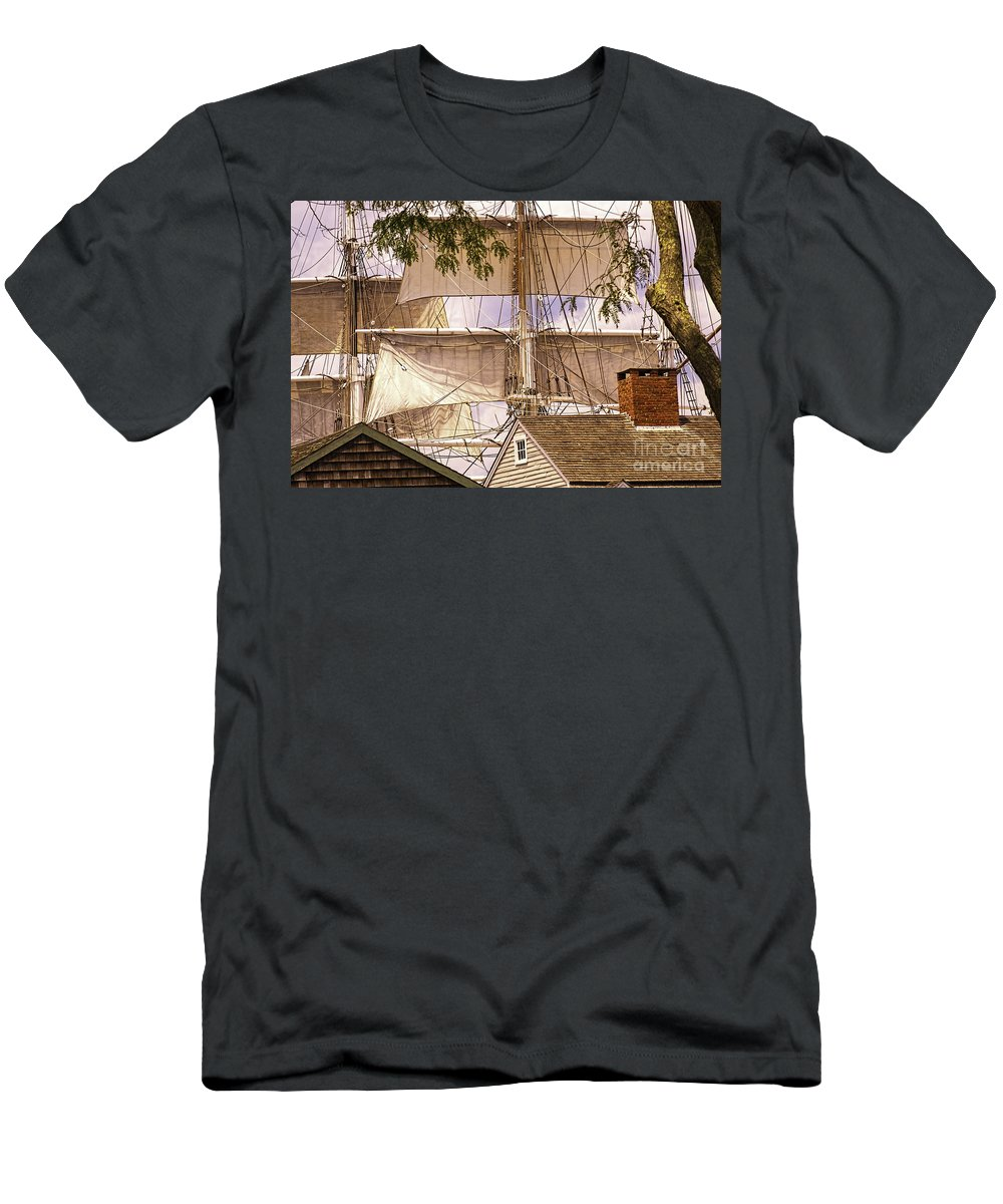 Mystic Men's T-Shirt (Athletic Fit) featuring the photograph Mystic Skyline by Joe Geraci