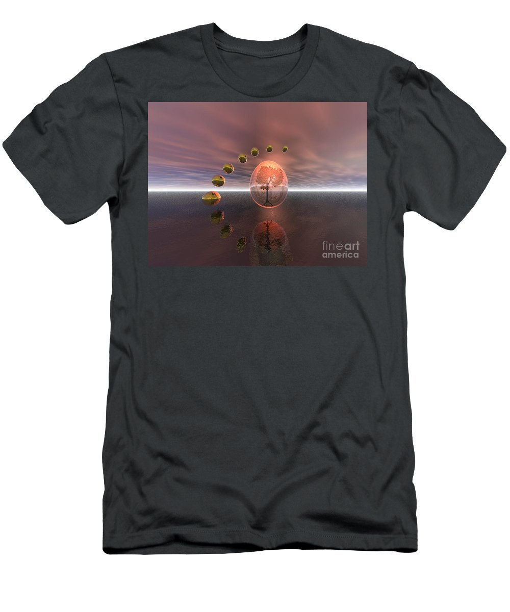 Mystical Men's T-Shirt (Athletic Fit) featuring the digital art Mystical Surrealism by Oscar Basurto Carbonell