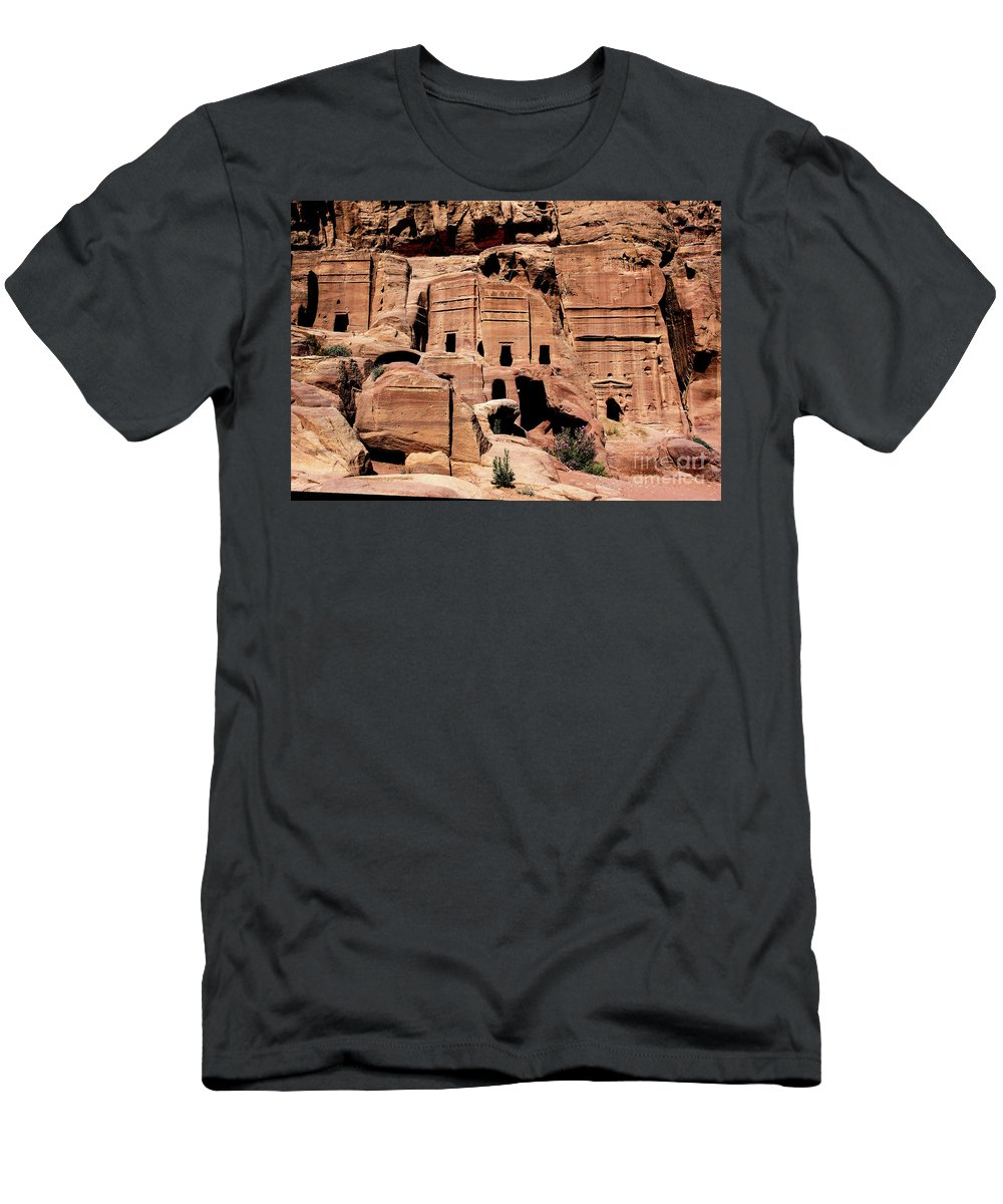 Nabataeans' City Men's T-Shirt (Athletic Fit) featuring the photograph Nabataeans' City by Mae Wertz