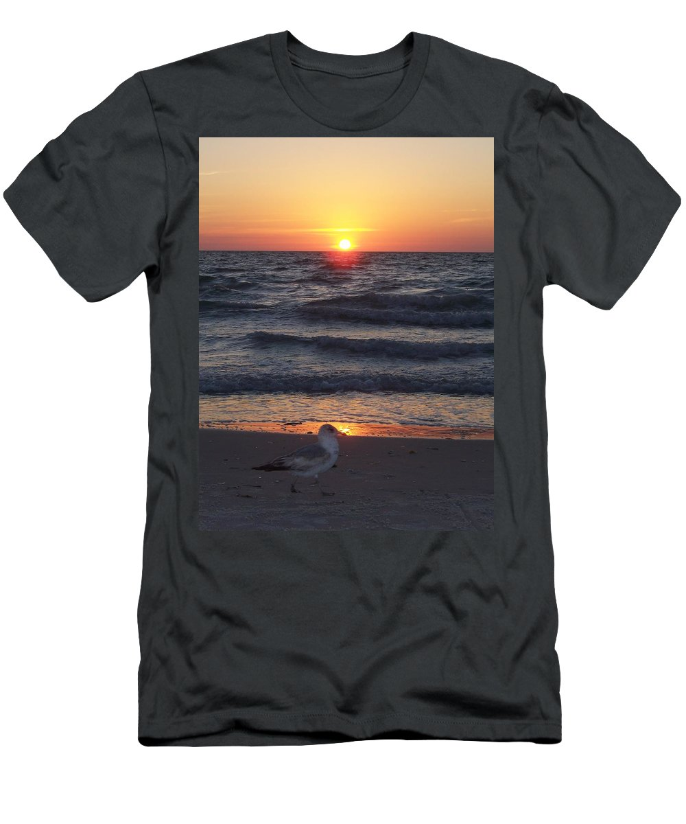 Naples Men's T-Shirt (Athletic Fit) featuring the photograph Naples Sunset 0042 by Laurie Paci