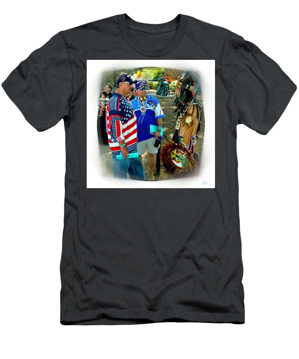 Native Americans Men's T-Shirt (Athletic Fit) featuring the digital art Native Intelligence by Joe Paradis