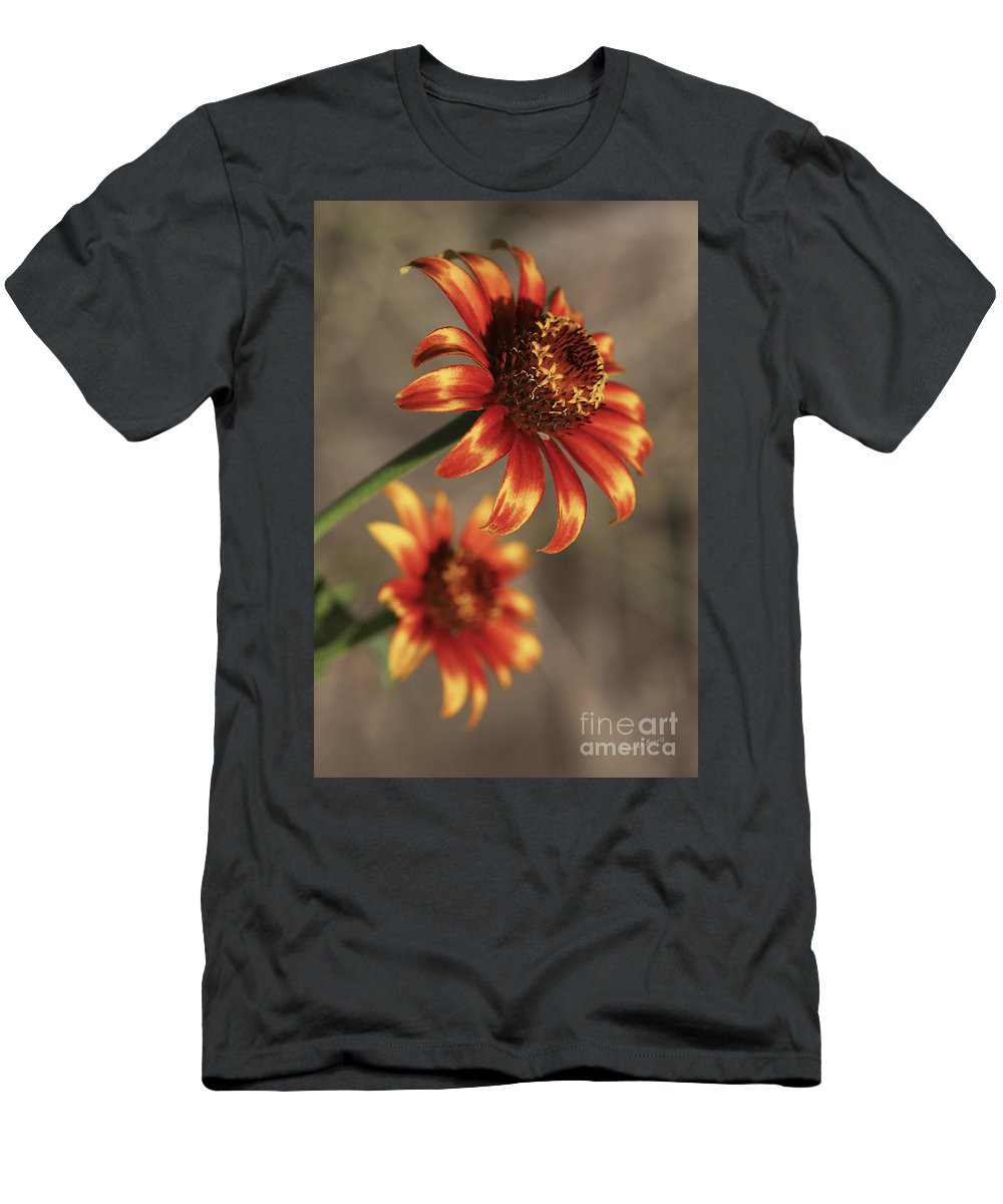 Flower Men's T-Shirt (Athletic Fit) featuring the photograph Natural Posing Beauty by Deborah Benoit