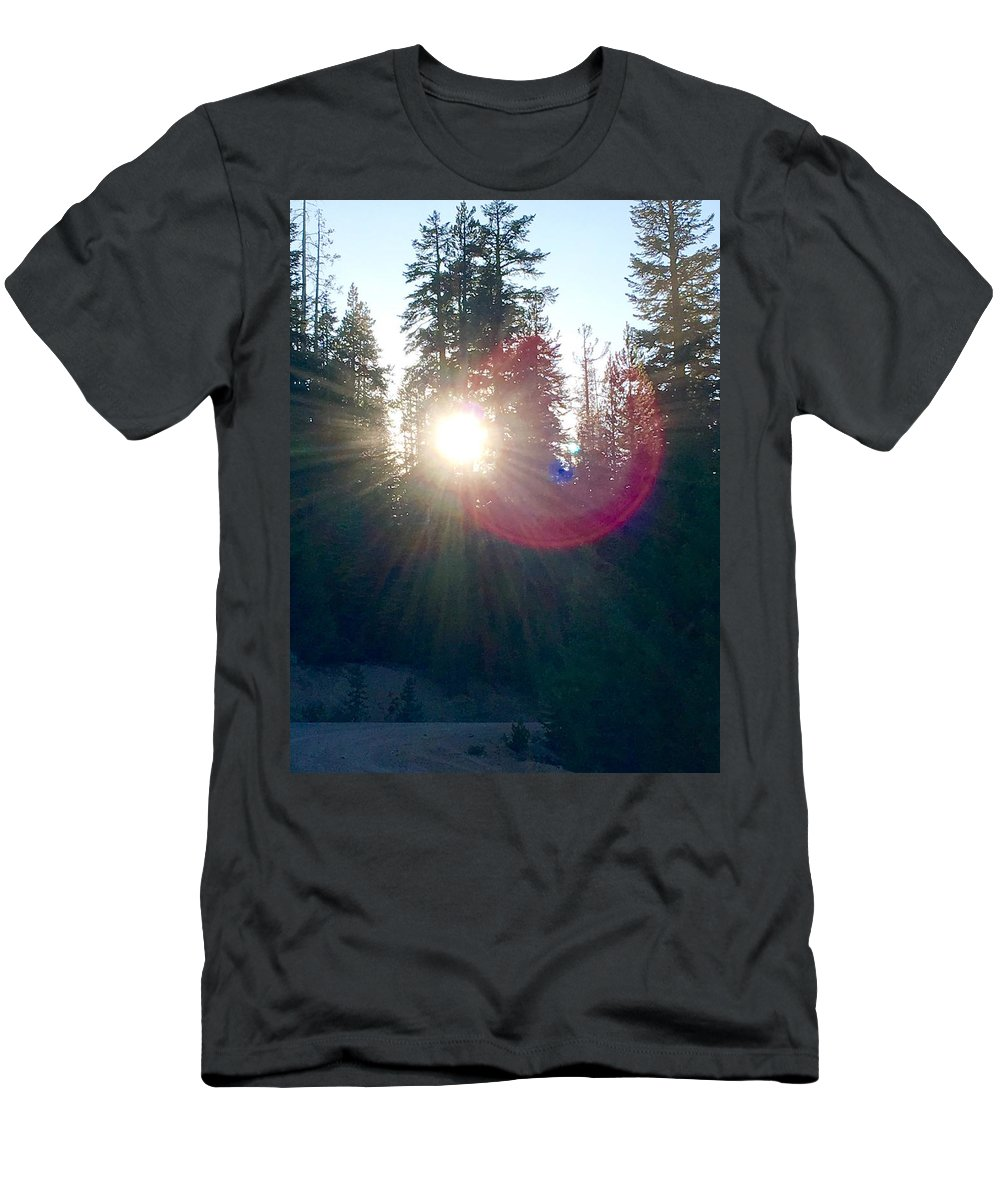 Glass Mountain Men's T-Shirt (Athletic Fit) featuring the photograph Nature Orbs Speak by Misti Cooper