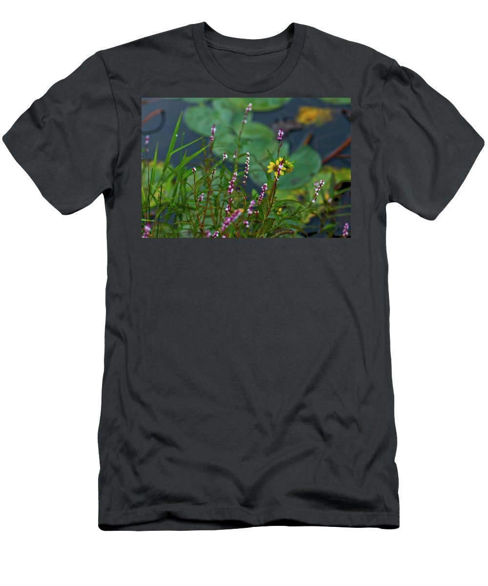 lilly Pads Men's T-Shirt (Athletic Fit) featuring the photograph Nature Water Garden by Paul Mangold