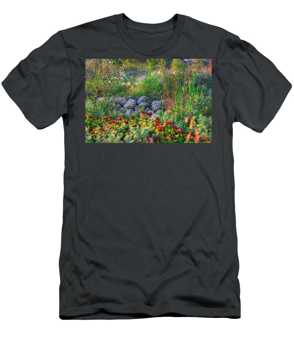 Abstract Men's T-Shirt (Athletic Fit) featuring the photograph Natures Carpet by Robert Pearson