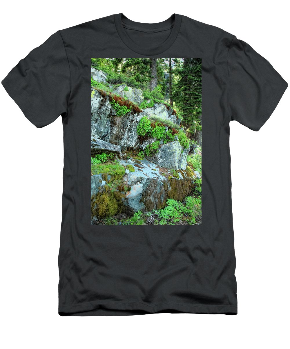 Nature Men's T-Shirt (Athletic Fit) featuring the photograph Nature's Collage by Donna Blackhall
