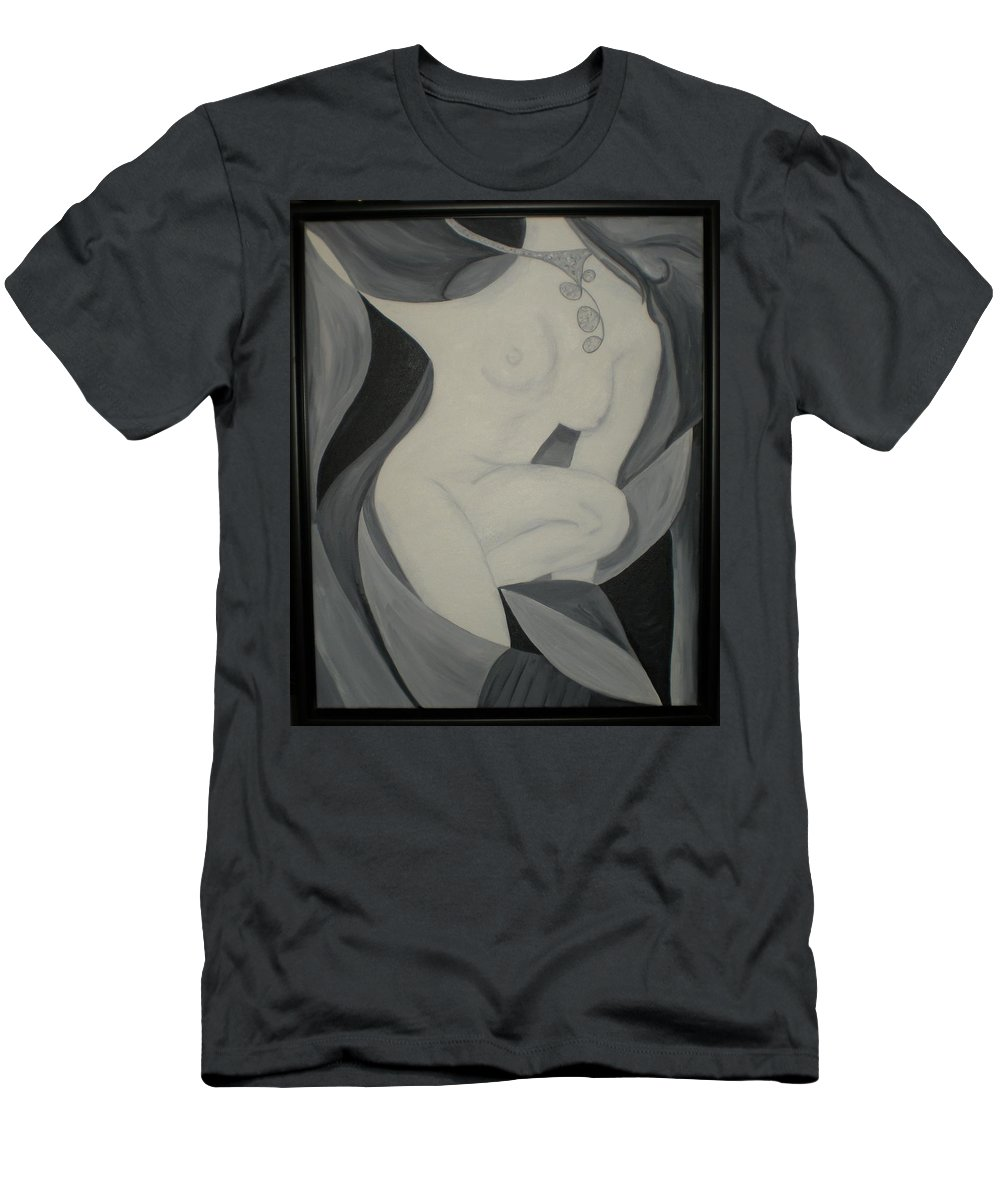 Abstract Men's T-Shirt (Athletic Fit) featuring the painting Necklace by Graciela Castro
