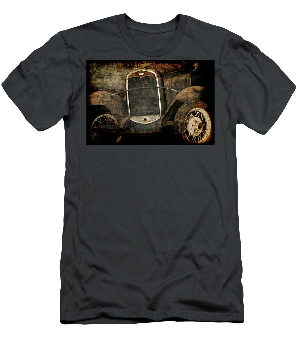 Old Fords Men's T-Shirt (Athletic Fit) featuring the photograph Needs Help by Ernie Echols