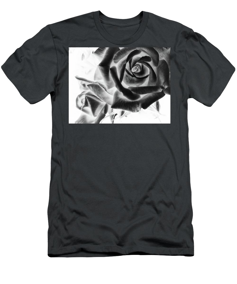Rose Men's T-Shirt (Athletic Fit) featuring the photograph Negative Roses by Philip Openshaw