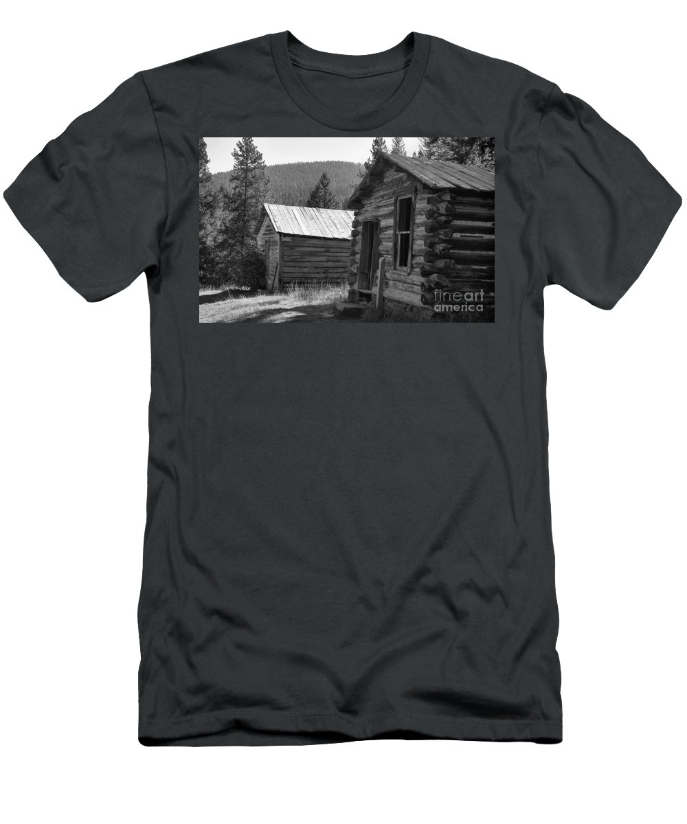 Abandoned Men's T-Shirt (Athletic Fit) featuring the photograph Neighbors by Richard Rizzo
