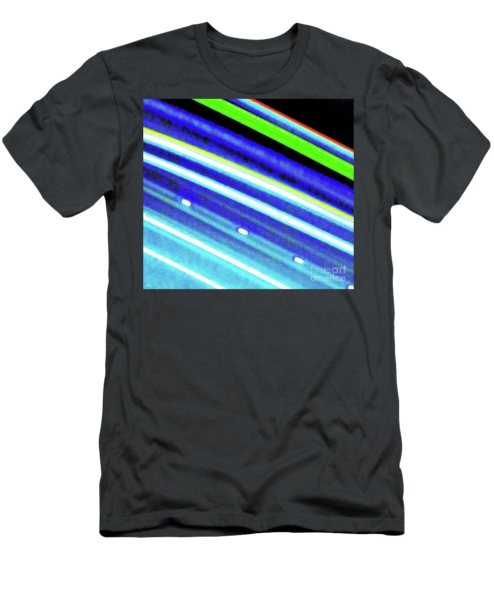 Neon. Lights Men's T-Shirt (Athletic Fit) featuring the photograph Neon 107c by Ken Lerner