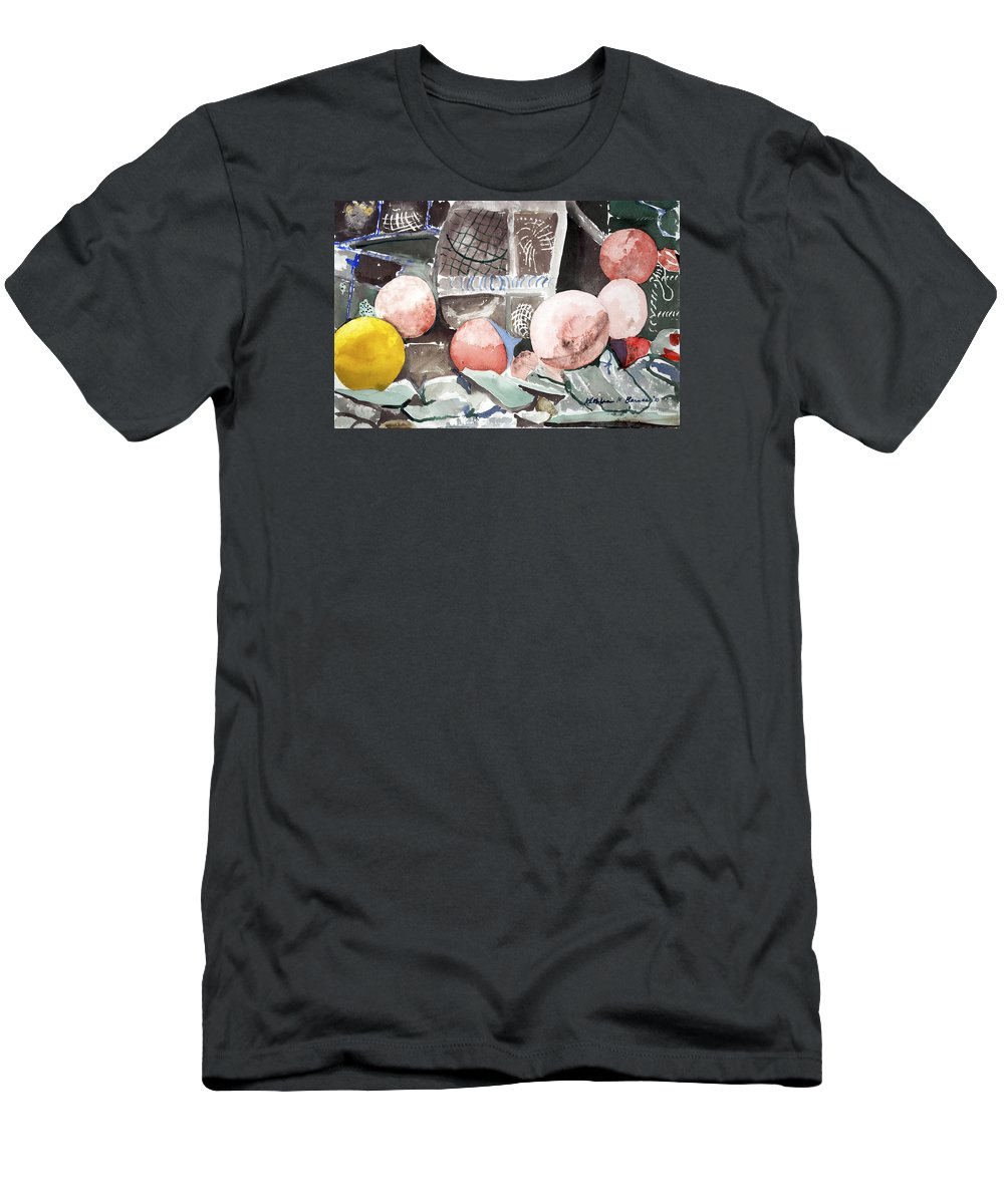 T-Shirt featuring the painting Nets And Floats by Kathleen Barnes