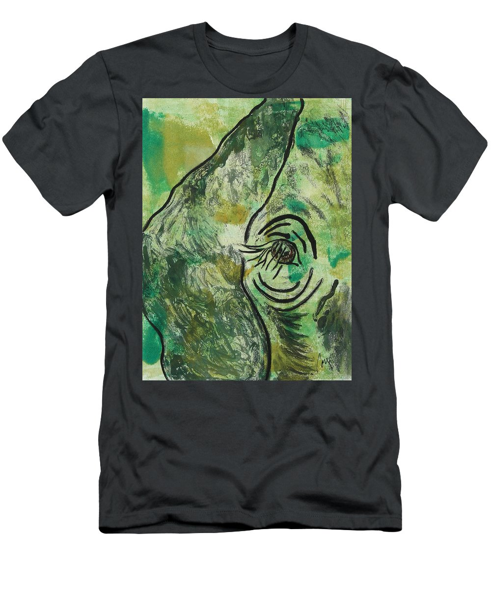 Monotype Men's T-Shirt (Athletic Fit) featuring the mixed media Never Forgotten by Cori Solomon