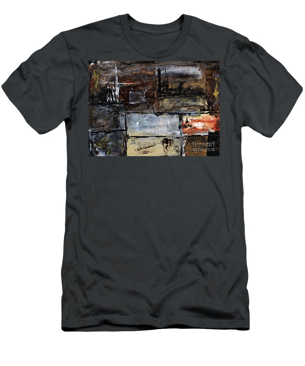 Abstract Art Men's T-Shirt (Athletic Fit) featuring the painting Never Give Up by Callan Art