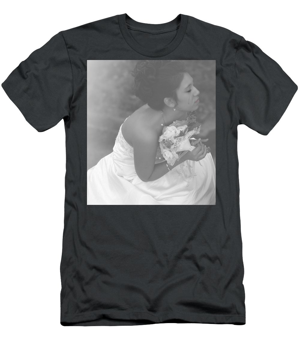 Wedding Men's T-Shirt (Athletic Fit) featuring the photograph Never Let Go by Kristie Bonnewell