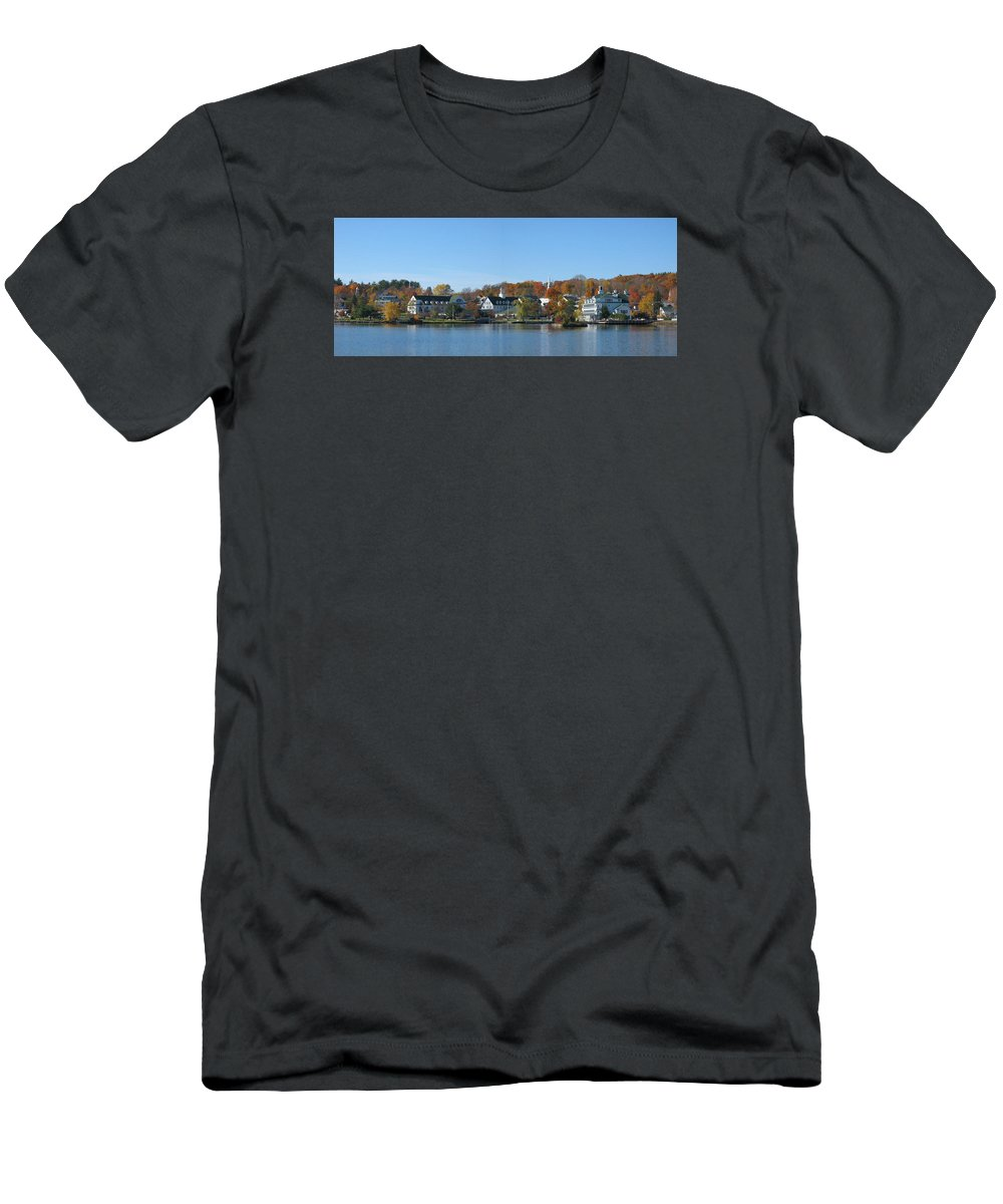 Lake Men's T-Shirt (Athletic Fit) featuring the photograph New England by Ronald Fleischer
