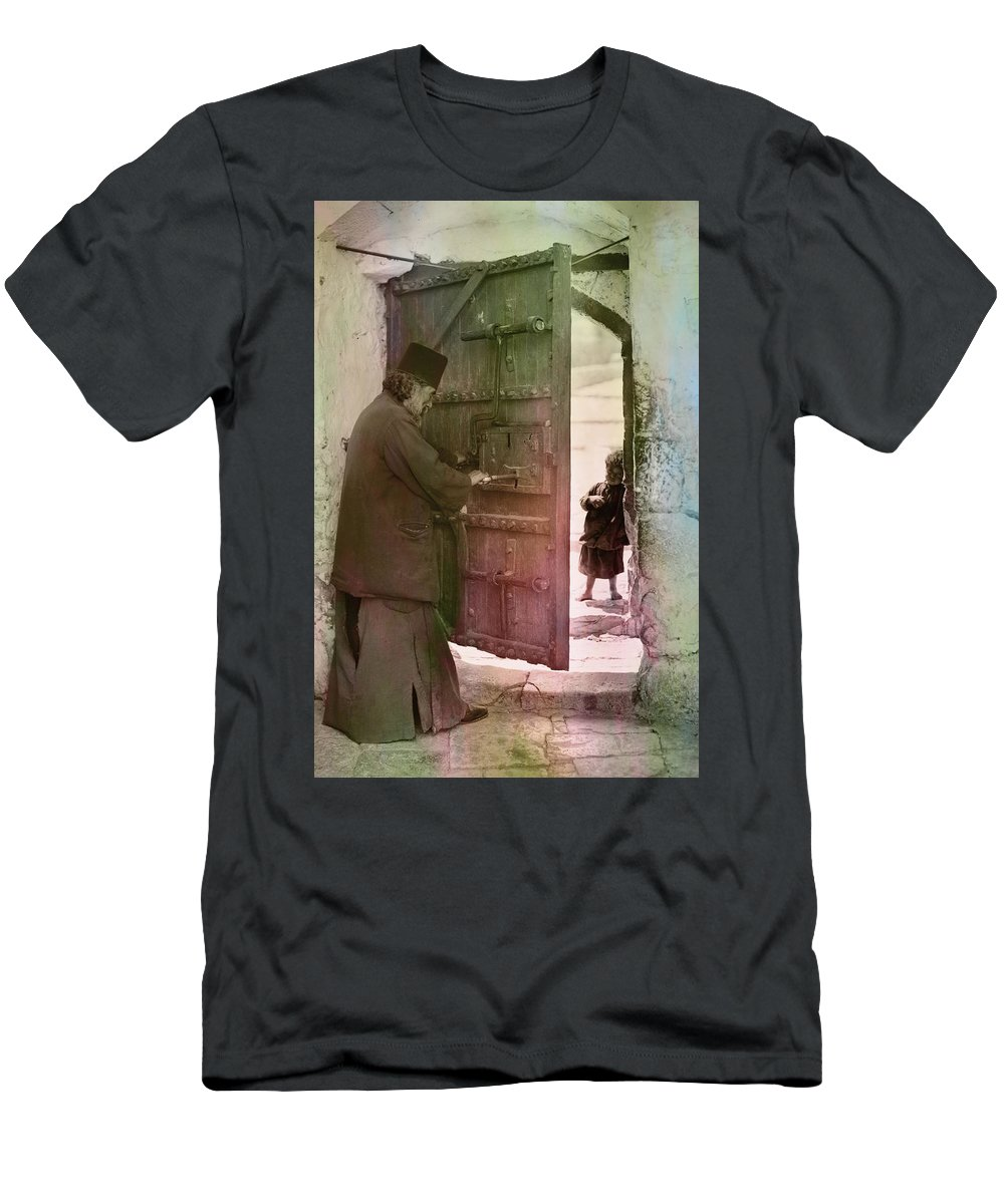 Bethlehem Men's T-Shirt (Athletic Fit) featuring the photograph New Hope by Munir Alawi