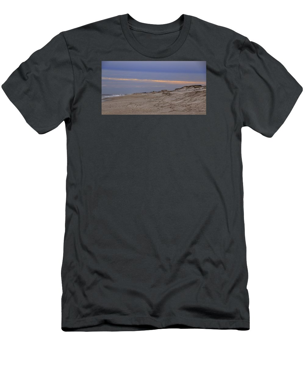 b01b77e71 New Jersey Men's T-Shirt (Athletic Fit) featuring the photograph New Jersey  Shore