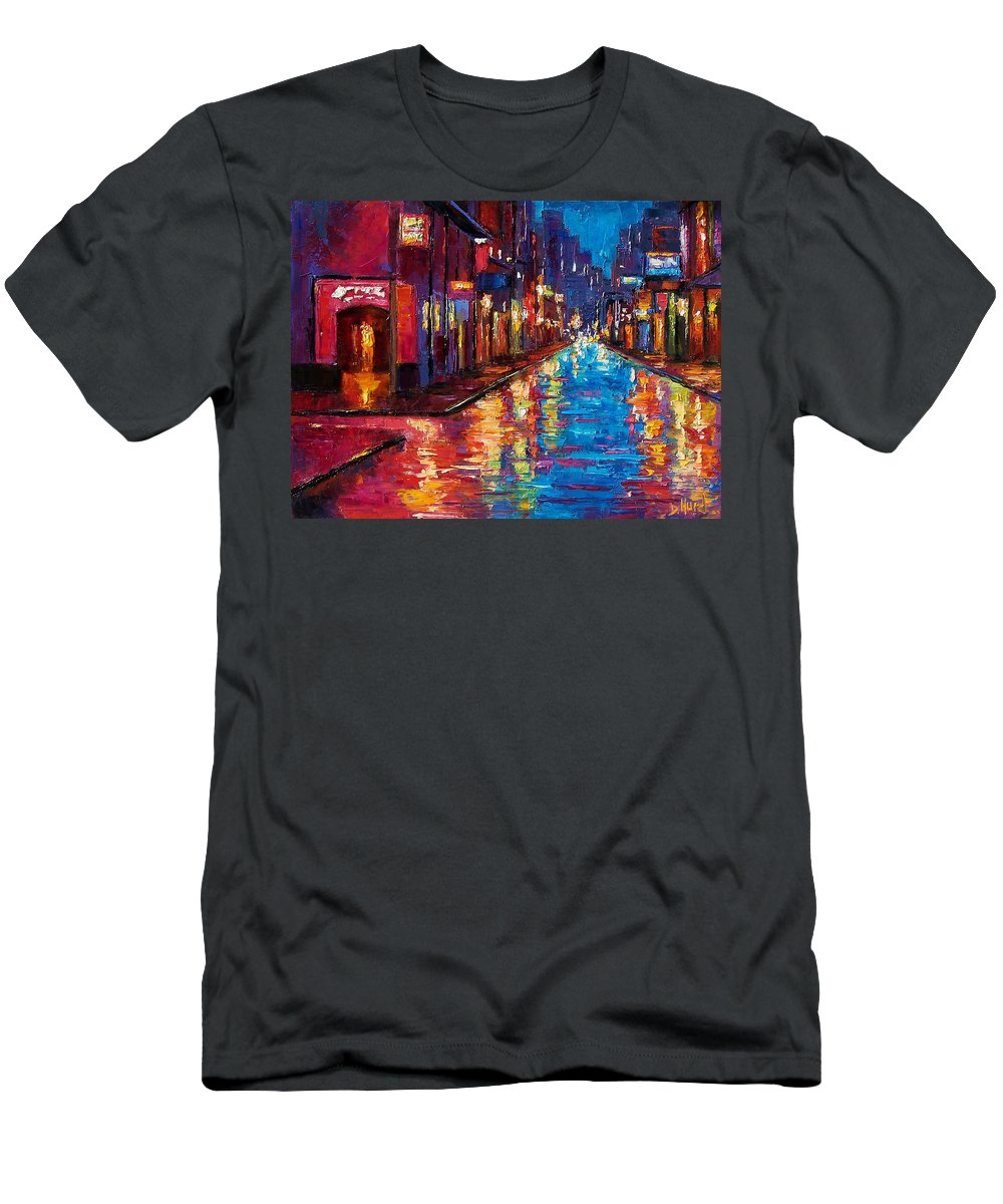 New Orleans Men's T-Shirt (Athletic Fit) featuring the painting New Orleans Magic by Debra Hurd