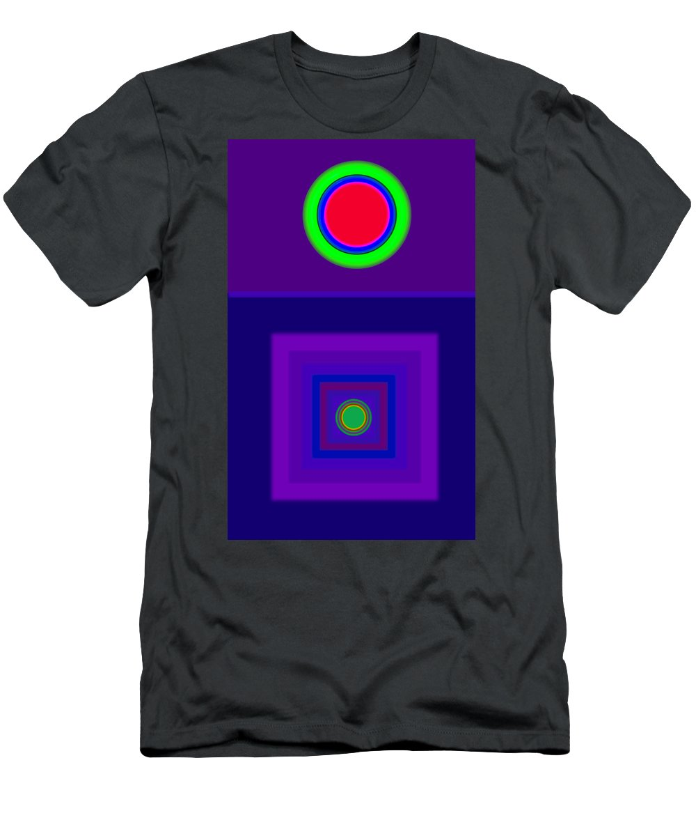 Classical Men's T-Shirt (Athletic Fit) featuring the digital art New Violet by Charles Stuart