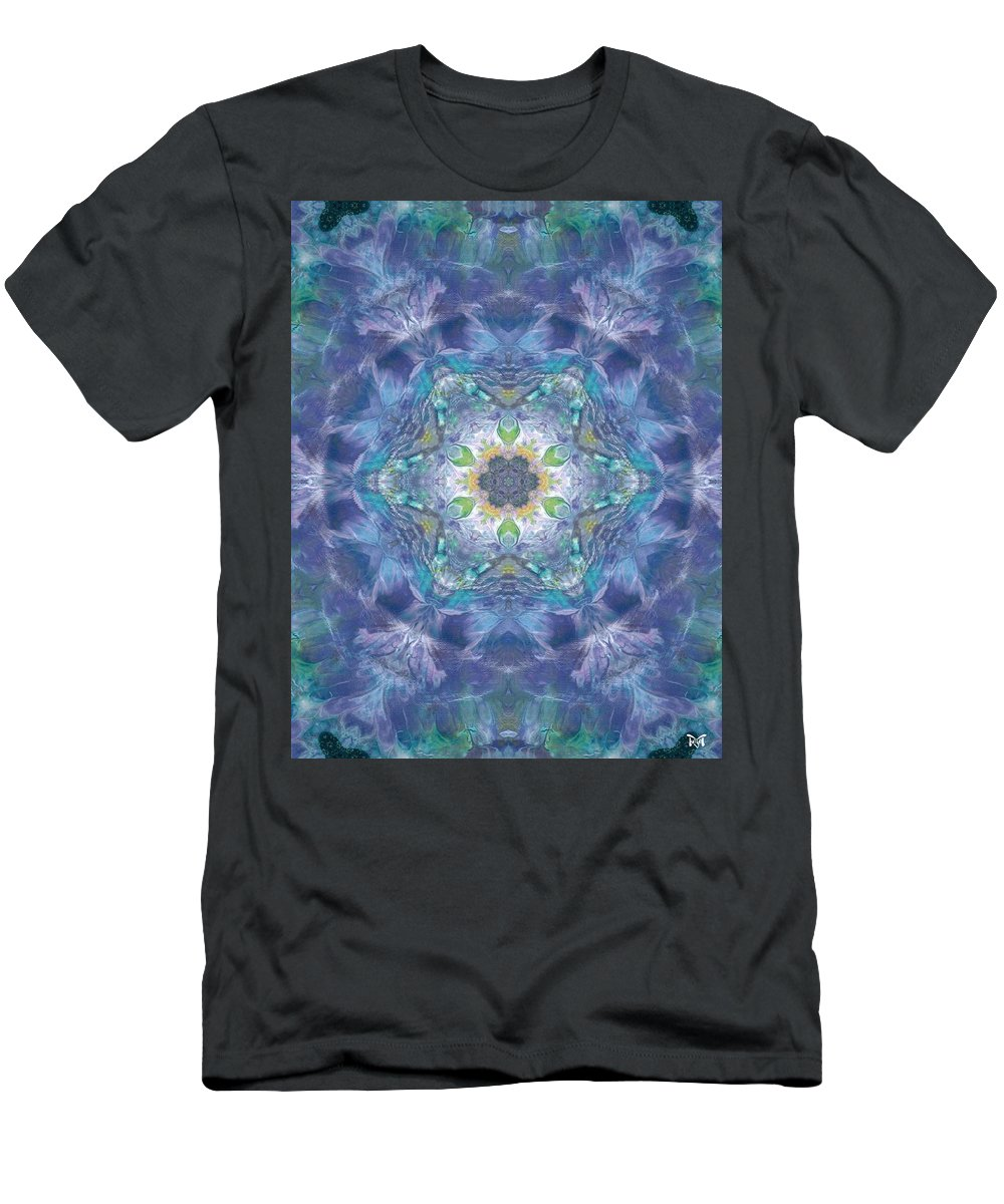 Magissimo Prints Men's T-Shirt (Athletic Fit) featuring the mixed media New World Dream Catcher by Maria Watt