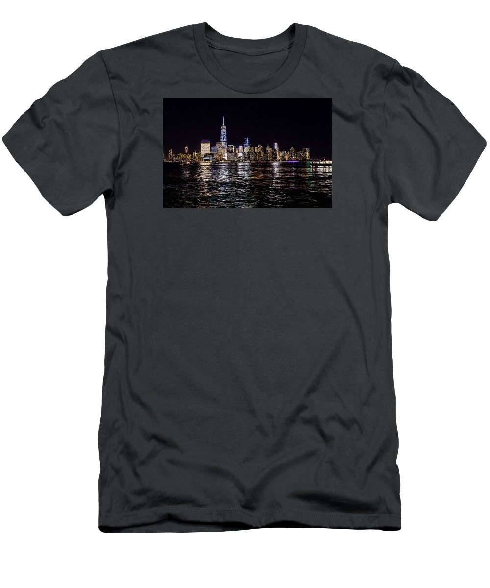 New York Men's T-Shirt (Athletic Fit) featuring the photograph New York by M G Whittingham